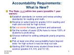 accountability requirements what is new