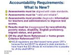 accountability requirements what is new1