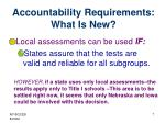 accountability requirements what is new2