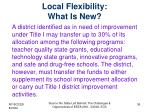 local flexibility what is new1