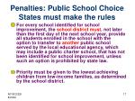 penalties public school choice states must make the rules