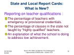 state and local report cards what is new1