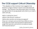 the ccss support critical citizenship