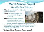 march service project handon new orleans