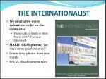 the internationalist