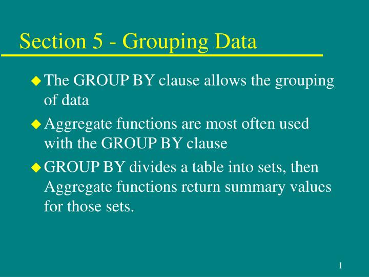 section 5 grouping data n.