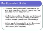 partitionnelle limite