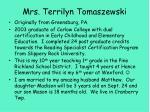 mrs terrilyn tomaszewski
