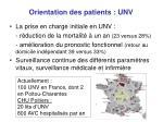 orientation des patients unv