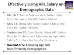 effectively using arl salary and demographic data