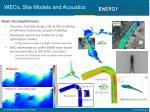 wecs site models and acoustics