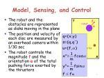 model sensing and control1