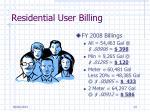 residential user billing