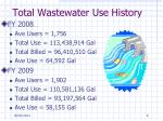 total wastewater use history