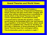 grand theories and world views