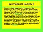 international society ii