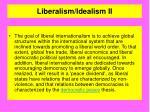 liberalism idealism ii