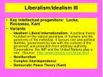 liberalism idealism iii