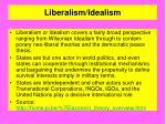liberalism idealism