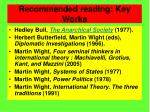 recommended reading key works