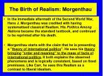the birth of realism morgenthau