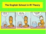 the english school in ir theory