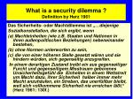 what is a security dilemma definition by herz 1961