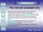 fitur web dan penjelajah web