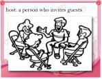 host a person who invites guests
