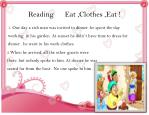 reading eat clothes eat