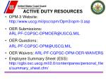 active duty resources
