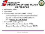 officer evaluations branch cg psc opm 31