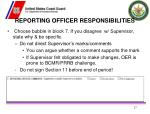 reporting officer responsibilities1