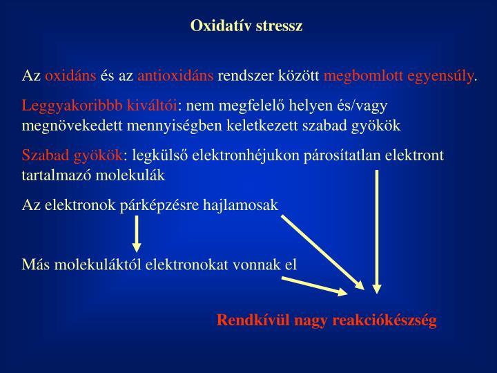 Oxidatív stressz