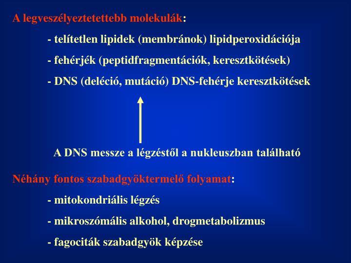 A legveszélyeztetettebb molekulák