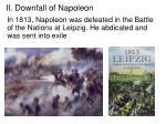 ii downfall of napoleon