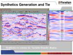 synthetics generation and tie