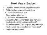 next year s budget