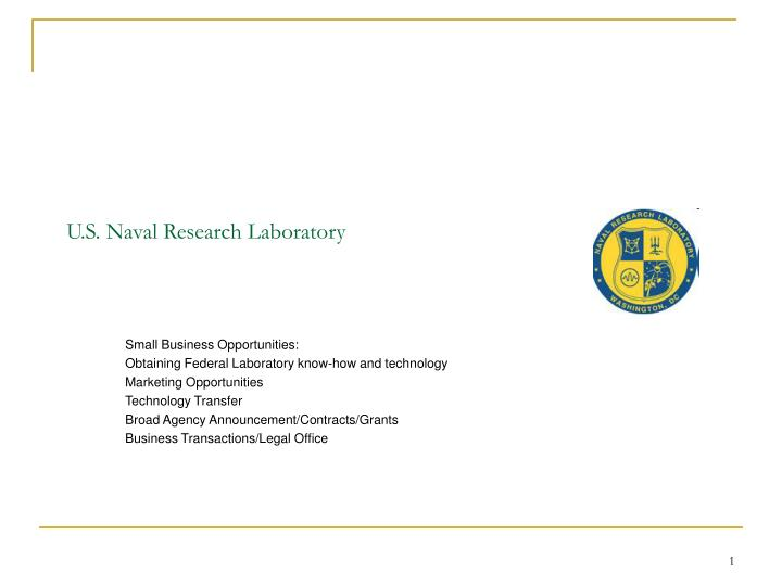 u s naval research laboratory n.