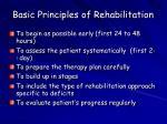 basic principles of rehabilitation
