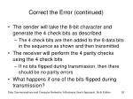 correct the error continued3