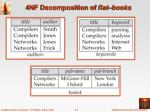 4nf decomposition of flat books
