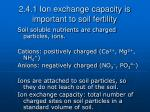 2 4 1 ion exchange capacity is important to soil fertility