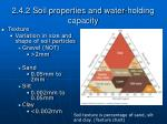 2 4 2 soil properties and water holding capacity