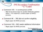 ins secondary confirmation c codes