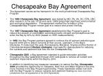 chesapeake bay agreement
