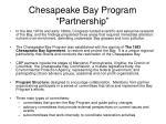 chesapeake bay program partnership