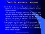 controle de atos e contratos