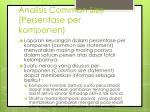 analisis common size persentase per komponen