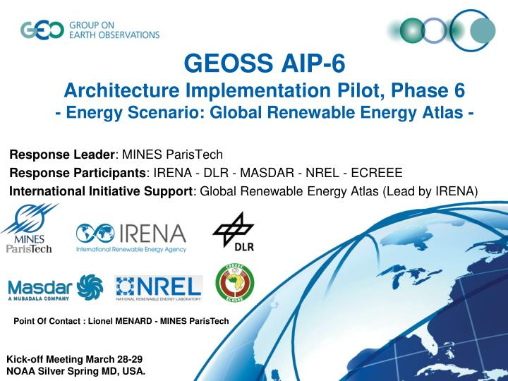geoss aip 6 architecture implementation pilot phase 6 energy scenario global renewable energy atlas n.